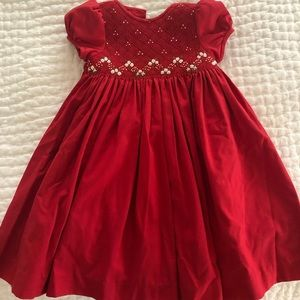Luli and me red dress